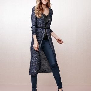 White House Black Market Sweaters - WHBM Blue Sparkle Sequin Duster Cardigan XS